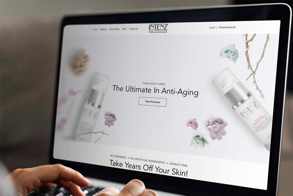 Web Design for New Intensive Face Serum