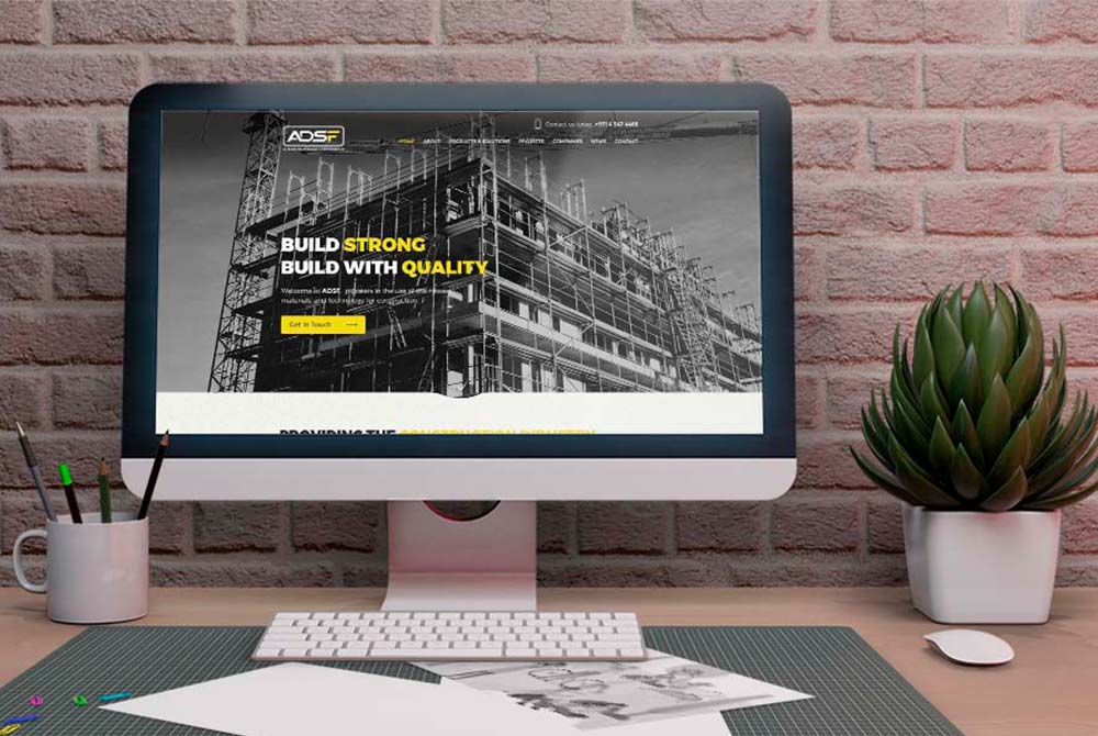 Website Design for Scaffolding Construction Company